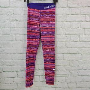 Nike Pro Hyperwarm Dri-Fit Printed Leggings Sz. S